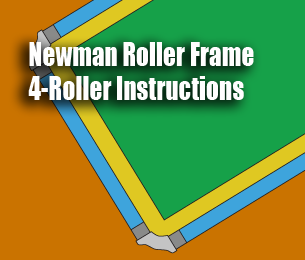 newman 4 roller frame instructions