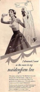 I Dreamed I Went To The Races In My Maidenform Bra Ad (1952)
