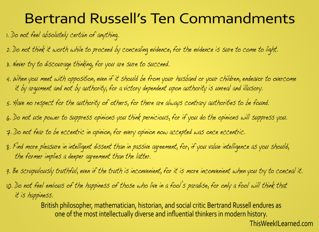 Russells-10-Commandments