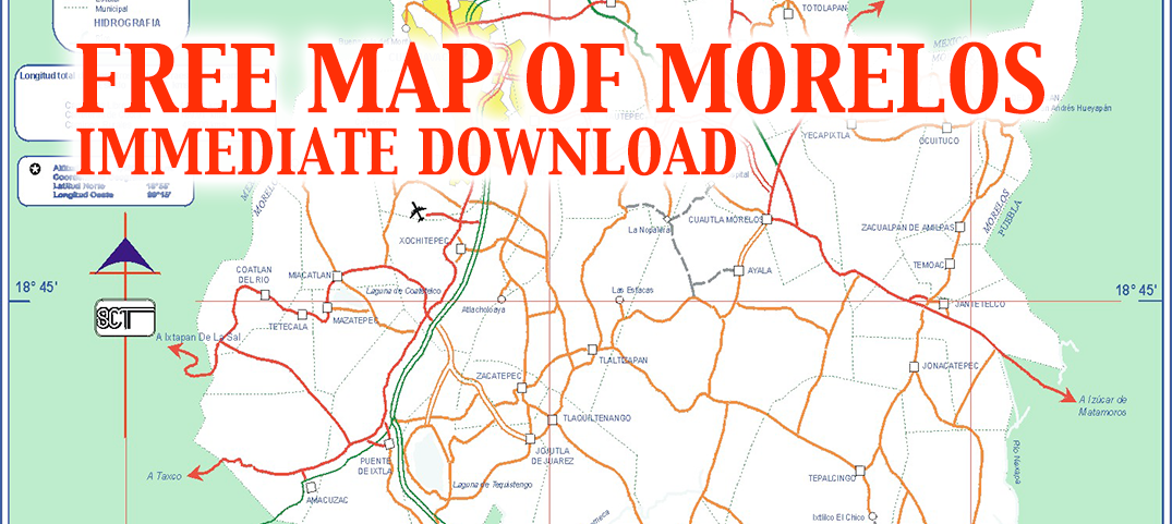 Map of Morelos