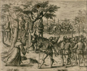 Columbus punishes rebellious Spaniards.