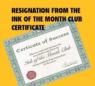 Resigning Certificate