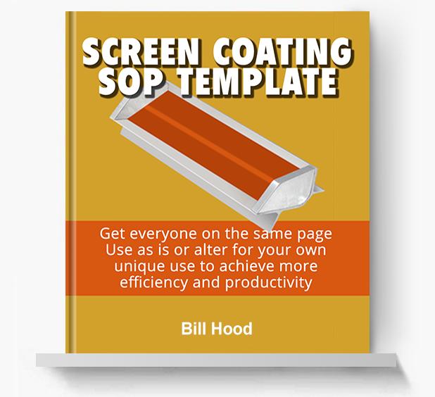 Screen Coating SOP - Screen Print Books