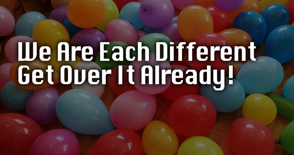 we are each different